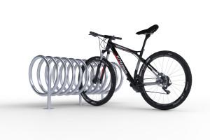 Obojstranný stojan na 2 bicykle, SPIRAL MAXI 2 miestny, pozinkovaný
