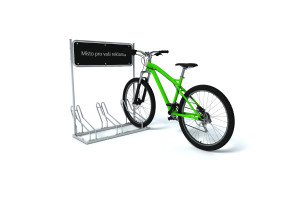 Cyklostojan IQ 3 s reklamným panelom, pozinkovaný