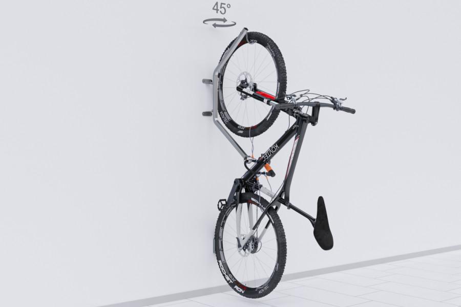 Otočný držiak na bicykel na stenu HOOK PRO
