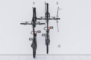Nástenný držiak na 3 bicykle, HOOK Pozink