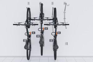 Nástenný držiak na 4 bicykle, HOOK Pozink