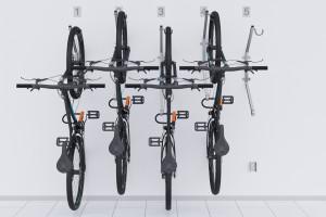 Nástenný držiak pre 5 bicyklov, HOOK Pozink