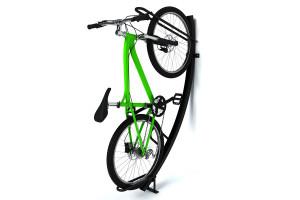 Držiak na bicykel SEMI VERTIKAL POLO 1 miestny, Ral čierny