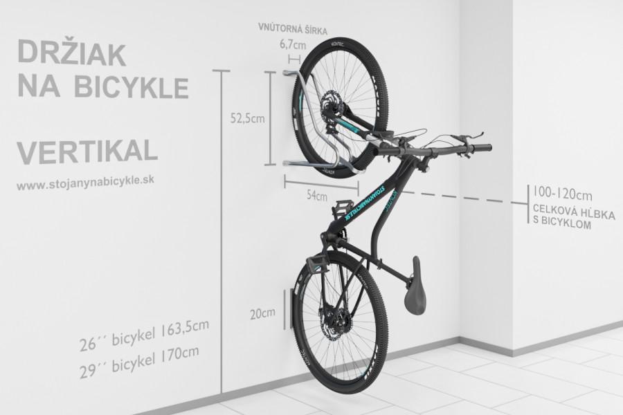 Držiak na bicykel na stenu VERTIKAL, Pozink