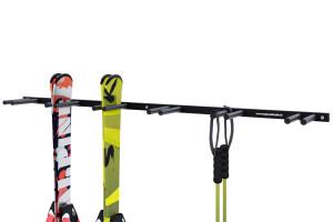 Držiak na lyže na stenu, 6 párov lyží, zvislý 16cm, čierny