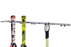 Držiak na lyže na stenu, 6 párov lyží, zvislý 16cm, strieborny