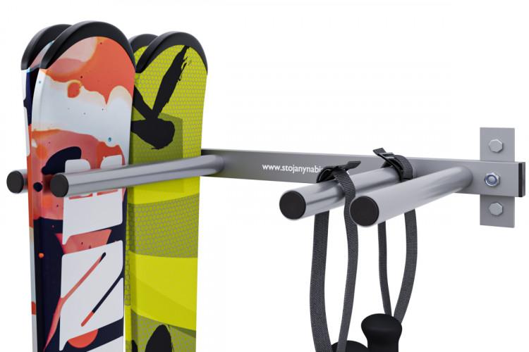 Držiak na lyže, 4 miestny, zvislý, save space