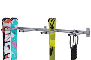 Držiak na lyže, 8 miestny, zvislý, save space