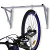 Držiak na bicykel na stenu typ ABRIS je najpredávanejší nástenný držiak na uskladnenie 2 až siedmych bicyklov. Na konštrukcii nástenného držiaka sú rozmiestnené pogumované háky so striedavou výškou. Pogumované háky služia na zavesenie bicykla za predné koleso o stenu. Každý hák je otočný a cyklista si vie hák nastaviť podľa seba. Držiak je vhodný pre kočikárne a cyklo boxy prípadne pivnice ktoré majú slúžiť na uskladenie bicyklov bytových domov. Držiak s označením DR-ABRIS sa vyrába v striebornej farbe.