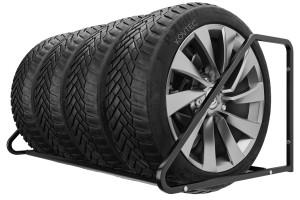 Držiak na pneumatiky 4 miestny, 105 cm, čierny