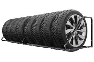 Nástenný držiak na pneumatiky na stenu, 8 miestny. Uskladni rôzne druhy pneumatík.