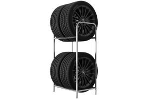 Regál na 4 pneumatiky s maximalnou šírkou 4x250 mm. Šírka police 50 cm. Povrchová úprava pozinkovaná.