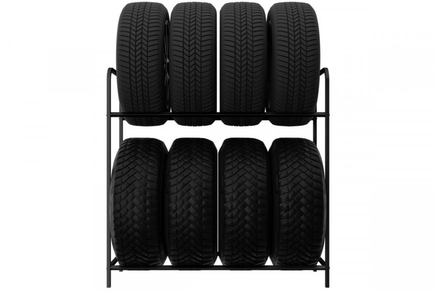 Regál na pneumatiky 8 miestny, čierny 105cm
