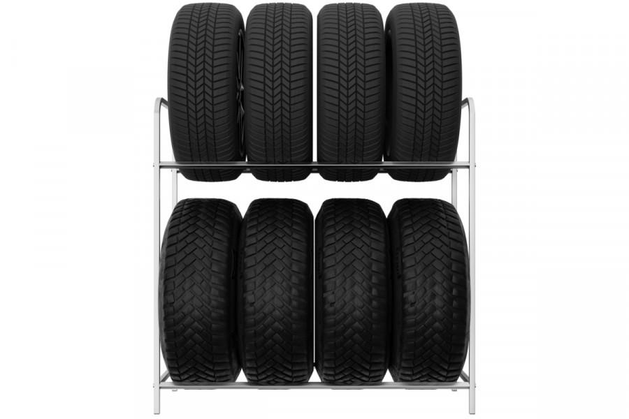 Regál na pneumatiky 8 miestny 105cm