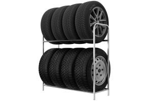 Regál na pneumatiky 8 miestny, 105 cm
