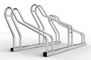 stojan na 3 bicykle so striedavou konštrukciou. model ALFA MAXI do úzkych priestorov. Povrchová úprava galvanický zinok.