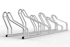 Stojan na 6 bicyklov alfa maxi do úzkych priestorov. Stojan slúži na parkovanie šiestich bicyklov. Stojan je vhodný aj bicykle s klasickou brzdou ale aj pre bicykle kt majú kotíčové brzdy. Konštrukcia stojanu umožňuje vytočenie stojanov na ľavú a pravú stranu takže pri montáži si ho môžte nastaviť do uhla aký potrebujete. Tento stojan je vo verzii 6 miesty pozinkovaný ale vyrába sa vo variante 2 až 20miestny.
