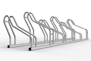 Nerezový stojan na 6 bicyklov alfa maxi do úzkych priestorov. Stojan slúži na parkovanie šiestich bicyklov. Stojan je vhodný aj bicykle s klasickou brzdou ale aj pre bicykle kt majú kotíčové brzdy. Konštrukcia stojanu umožňuje vytočenie stojanov na ľavú a pravú stranu takže pri montáži si ho môžte nastaviť do uhla aký potrebujete. Tento stojan je vo verzii 6 miesty ale vyrába sa vo variante 2 až 20miestny.