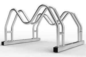 Obojstranný stojan na 2 bicykle MEGA, pozinkovaný