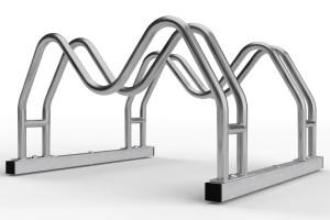 Obojstranný stojan na 2 bicykle MEGA, nerezový